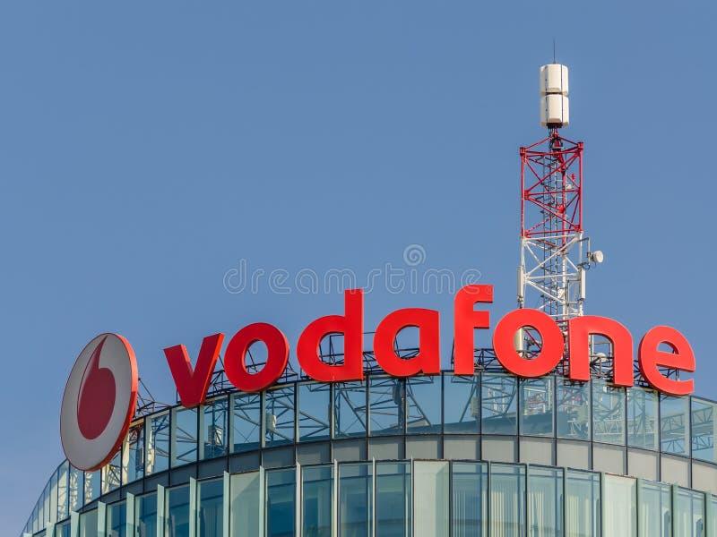 Vodafone Building. BUCHAREST, ROMANIA - JUNE 24: Vodafone Building on June 24, 2013 in Bucharest, Romania. It is the world's second-largest mobile stock photography