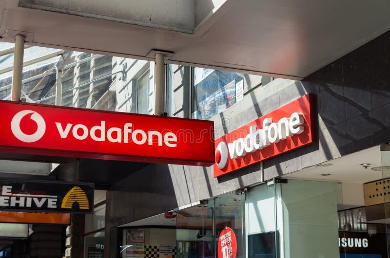 Vodafone lagrar i Melbourne royaltyfria bilder