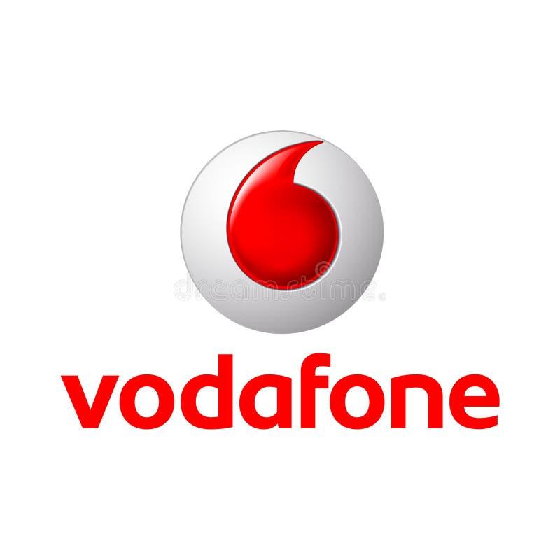 Vodafone Logo Vetora Illustration ilustração royalty free