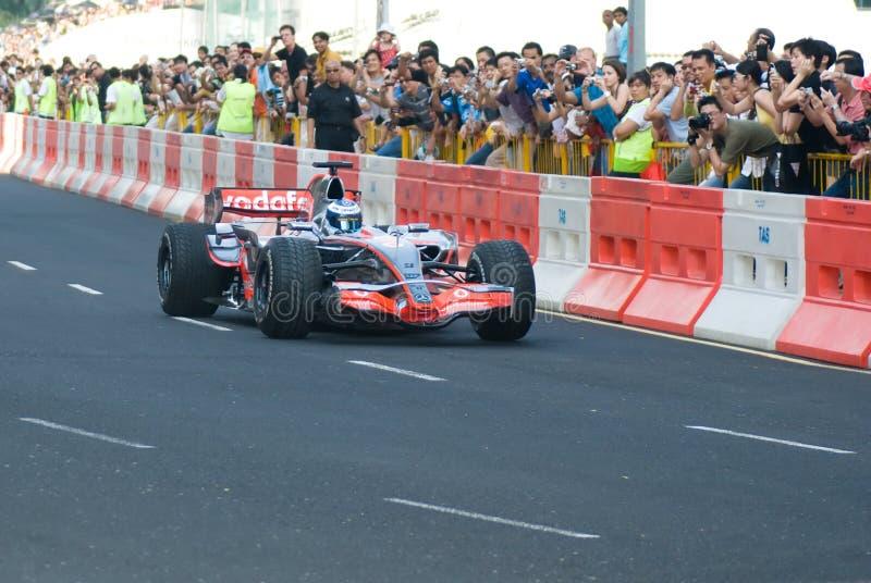 Vodafone McLaren Mercedes F1 Car; Mika Hakkinen royalty free stock photography