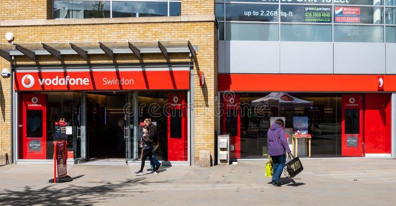 Vodafone sklep Swindon zdjęcia stock