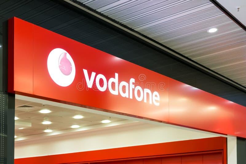 Vodafone sklepu znak zdjęcie stock