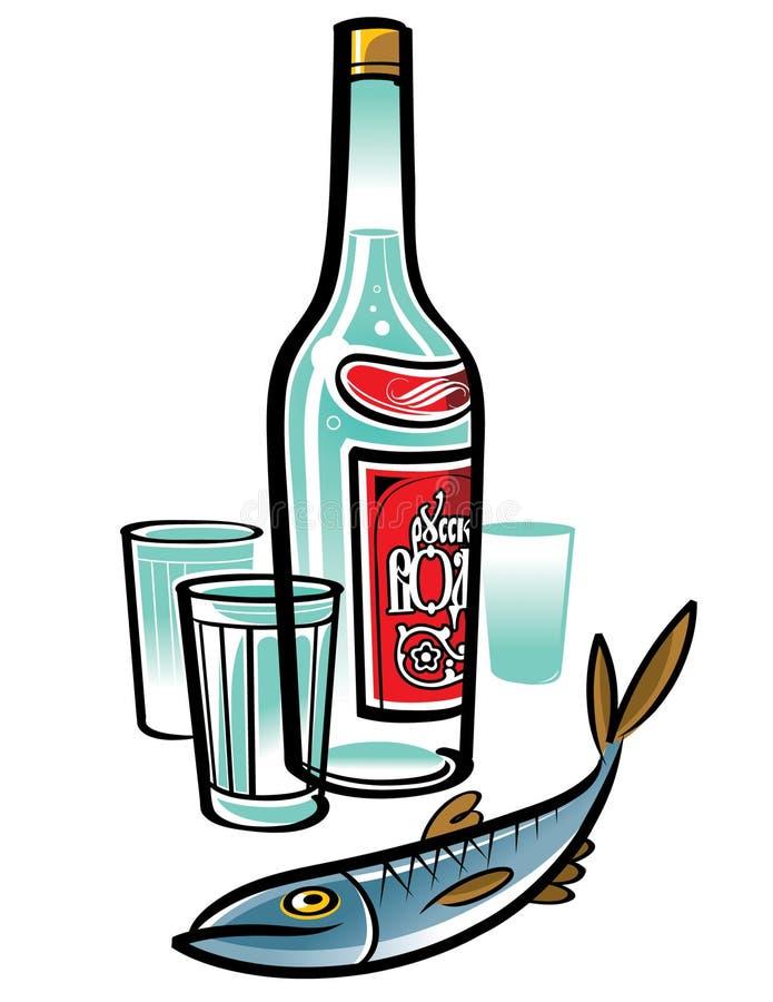 Vodka libre illustration