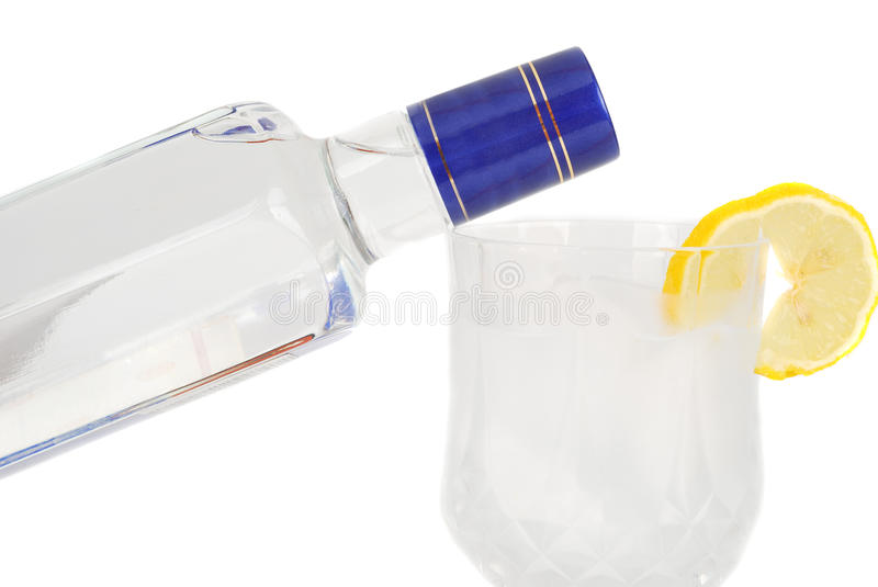 Download Vodka bottel and glass. stock image. Image of glass, tequila - 10659545