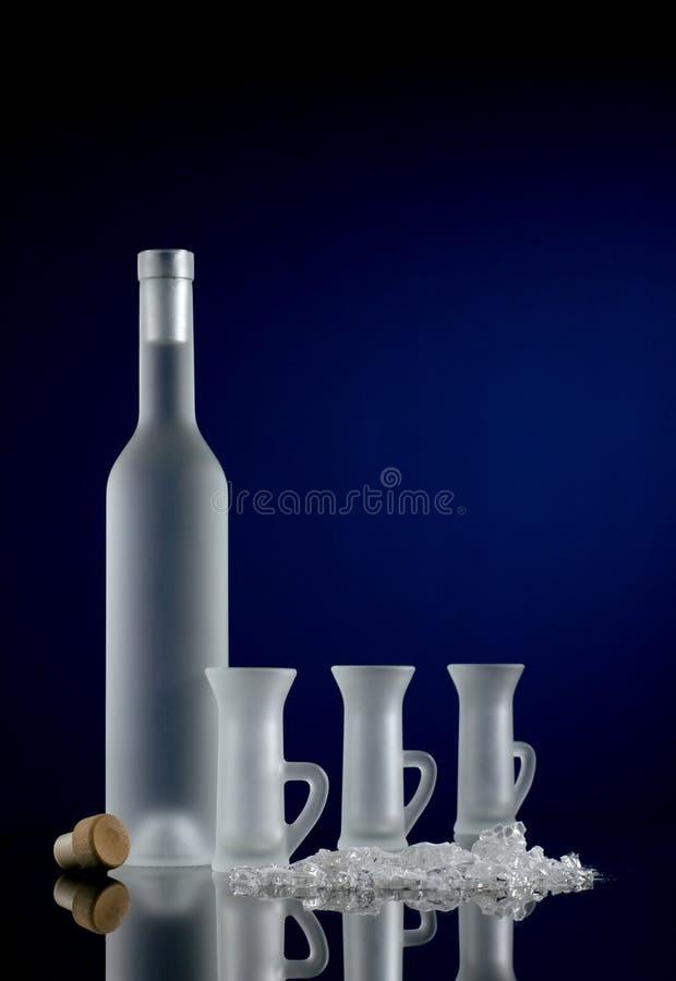 Vodka con los vidrios foto de archivo libre de regalías