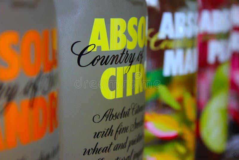 Vodka d'Absolut image stock