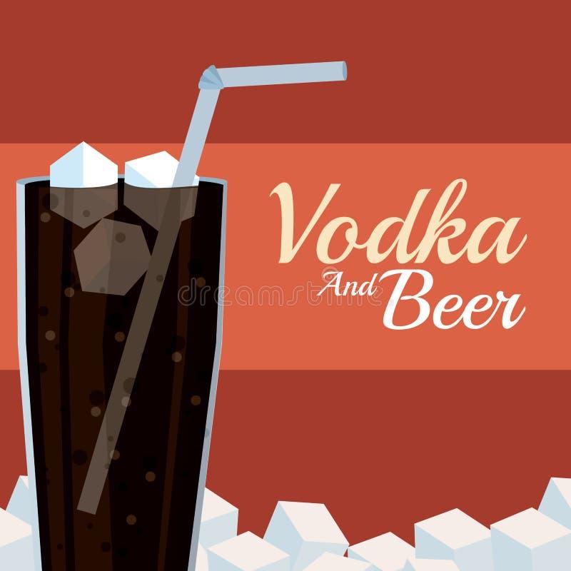 Vodka et bière d'Imprimir illustration de vecteur