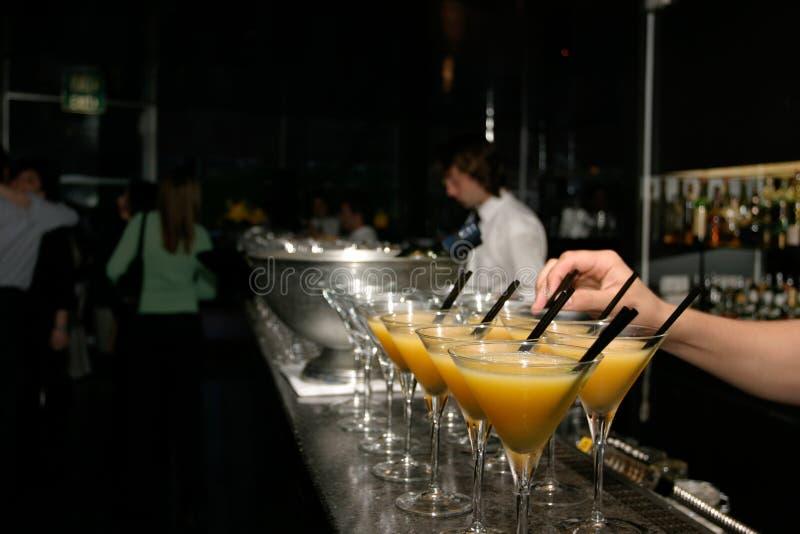 vodka för coctailfruktsaftorange fotografering för bildbyråer