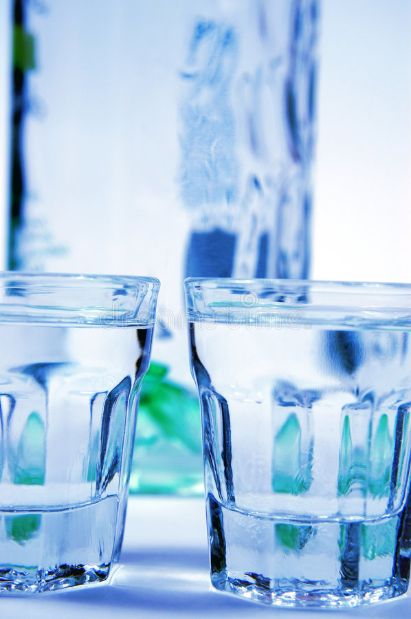 Vodka and glasses royalty free stock photography