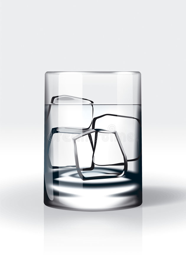 Vodka with ice / water with ice vector illustration