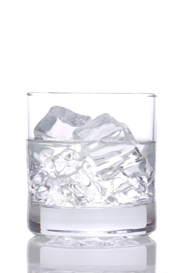 Vodka and Ice on White royalty free stock image
