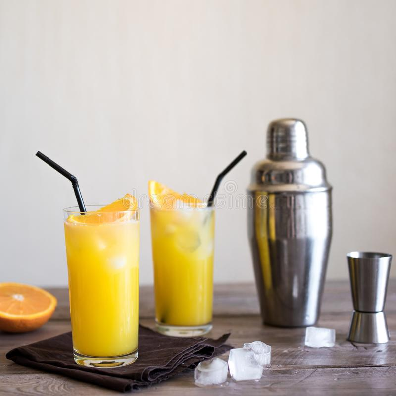Vodka Juice Cocktail orange images stock