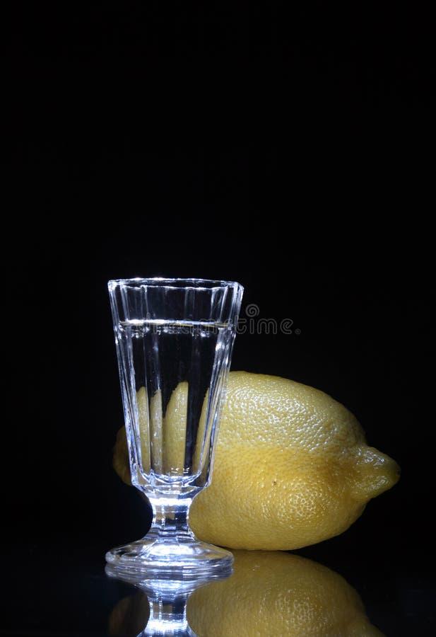 Vodka And Lemon Royalty Free Stock Image