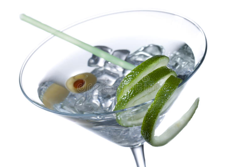 Vodka in a martini royalty free stock image