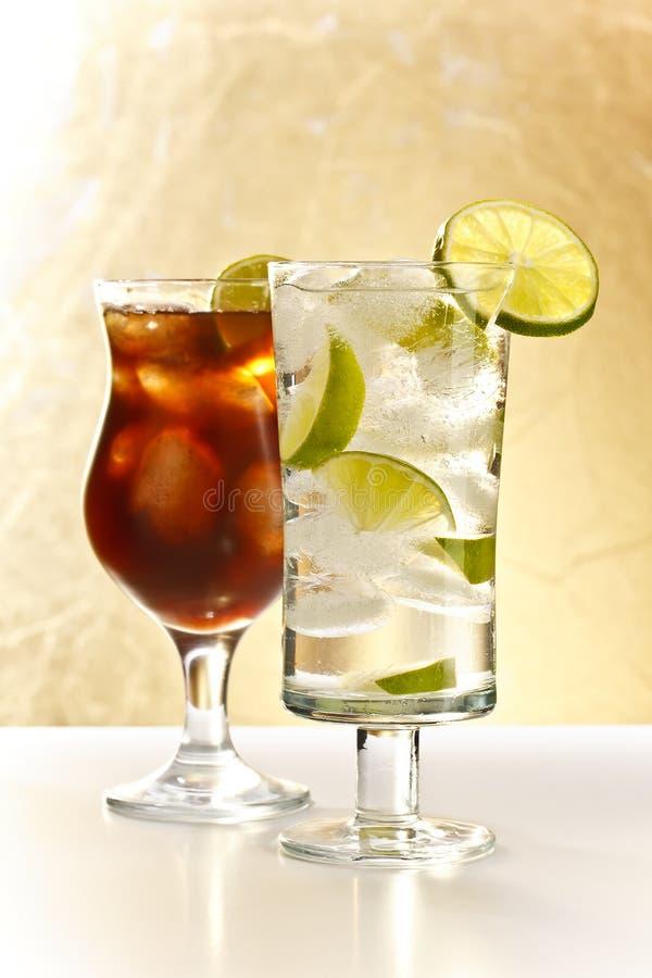 Vodka och cola royaltyfri fotografi