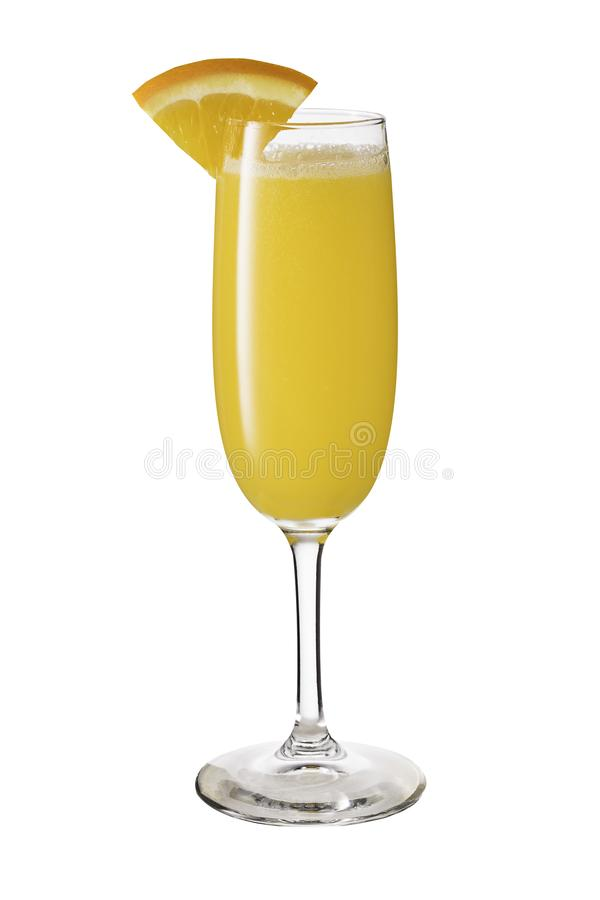 Vodka Orange Juice Mimosa Cocktail on White royalty free stock images