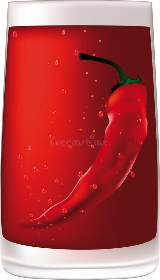 Vodka rossa con pepe royalty illustrazione gratis