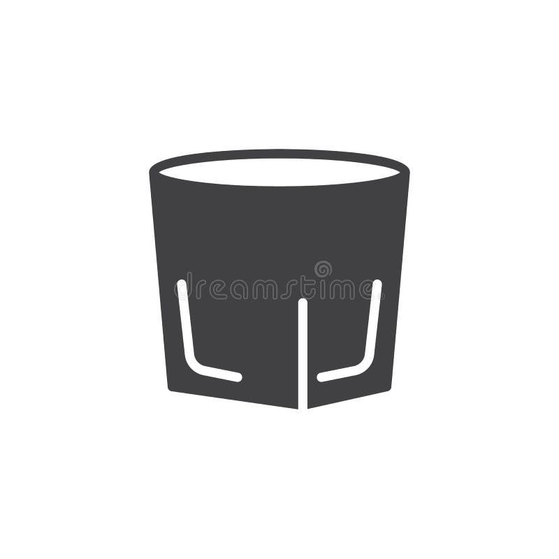 Vodka shot glass icon vector vector illustration