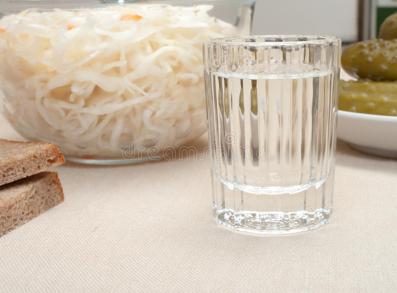 Download Vodka and snack. stock image. Image of salted, pickled - 22537321