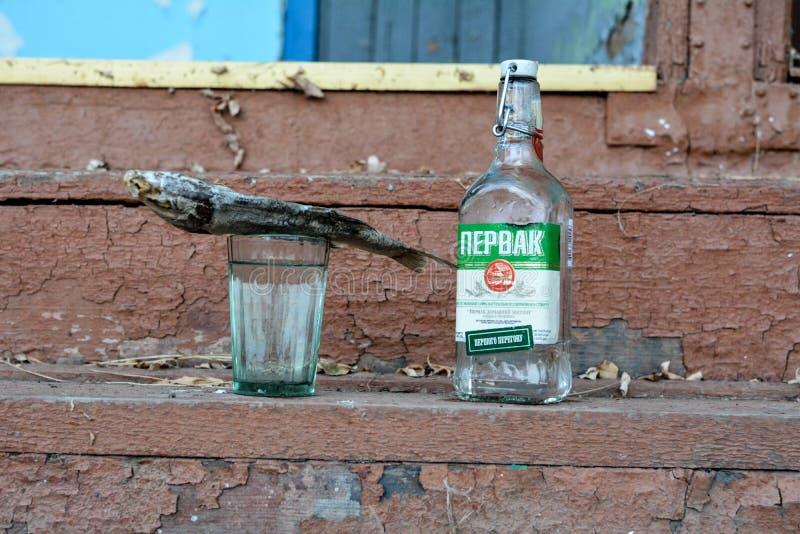 Vodka ukrainienne, alcool illégal photos stock