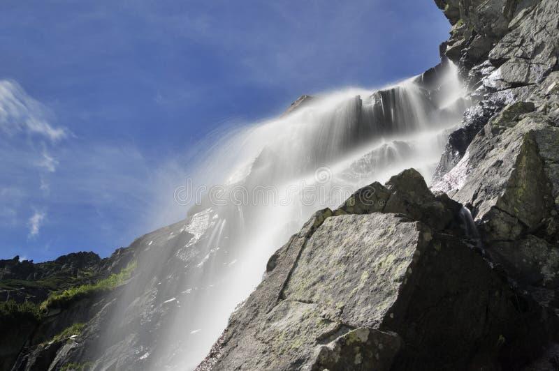 Vodopád Skok waterfall. Vodopad Skok waterfall at Mlynicka dolina, High Tatras national park, Slovakia stock photography