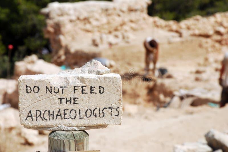 Voed niet de Archeologen royalty-vrije stock foto's