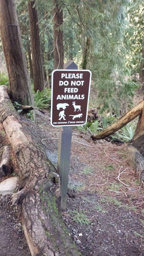 Voed niet de dieren royalty-vrije stock foto