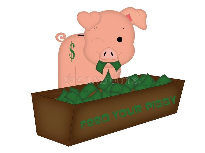 Voed Uw Piggy stock fotografie
