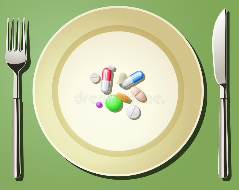 Voedings Zorg stock illustratie