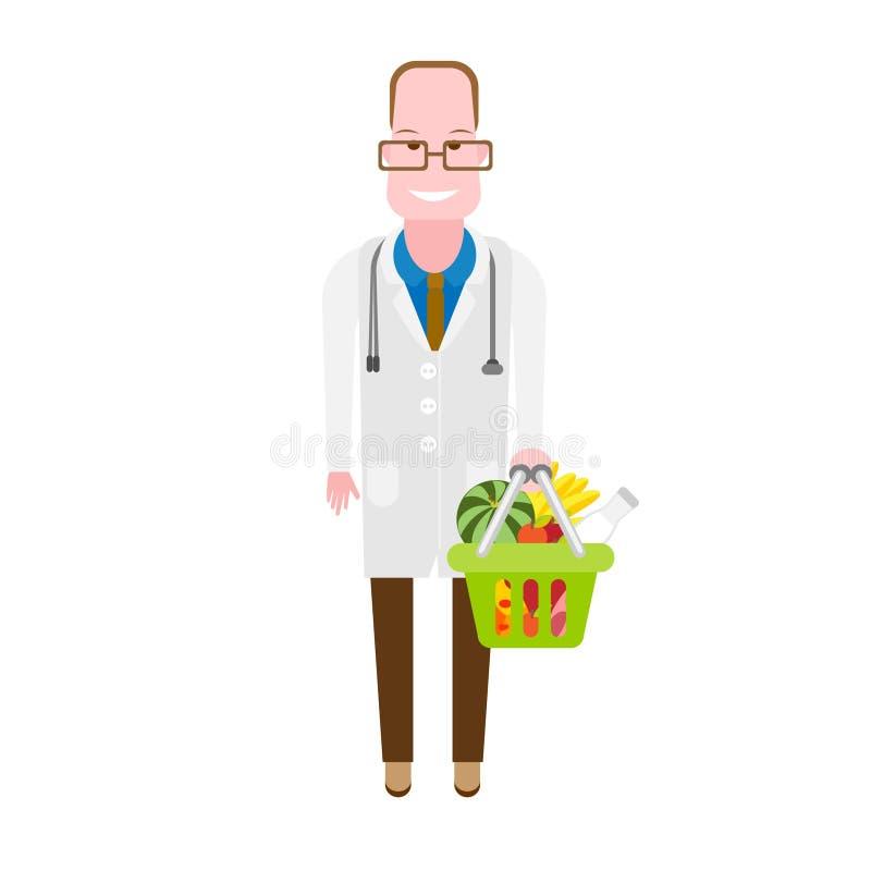 Voedingsdeskundige stock illustratie
