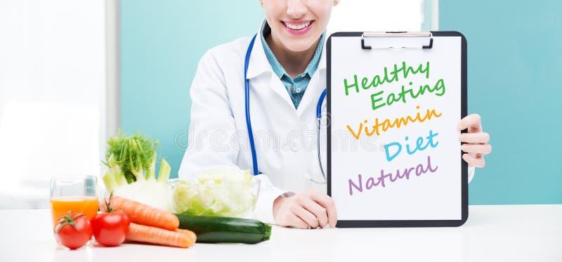 Voedingsdeskundige Arts stock foto