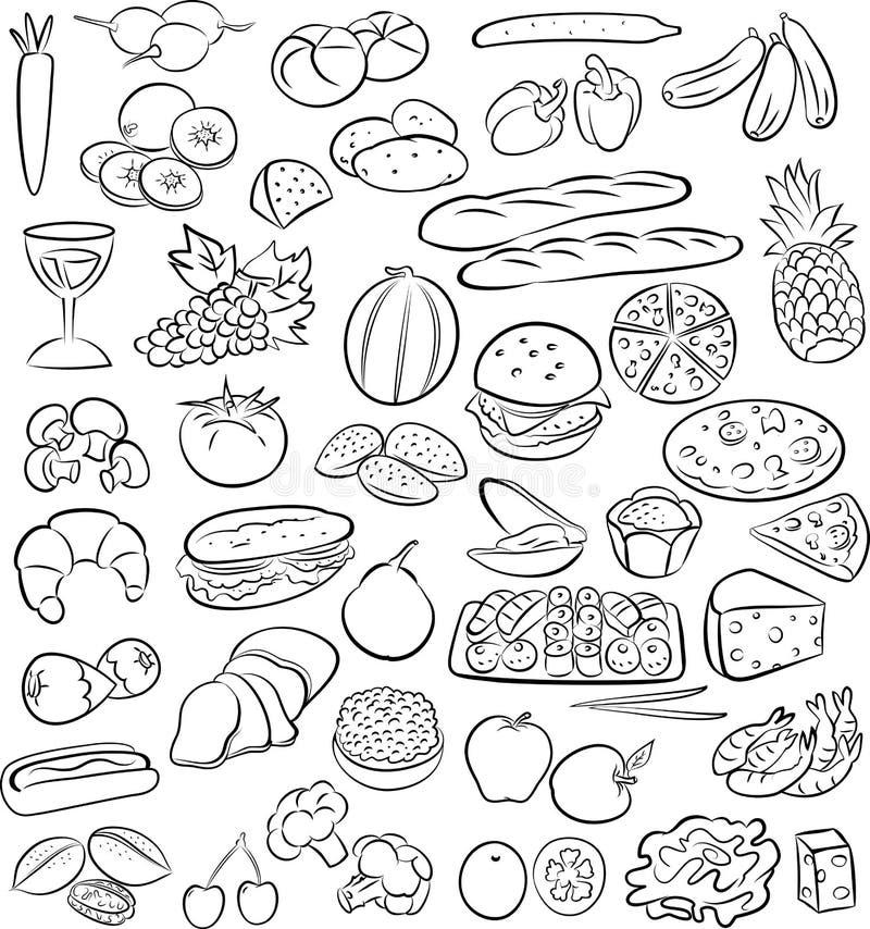 Voedsel stock illustratie
