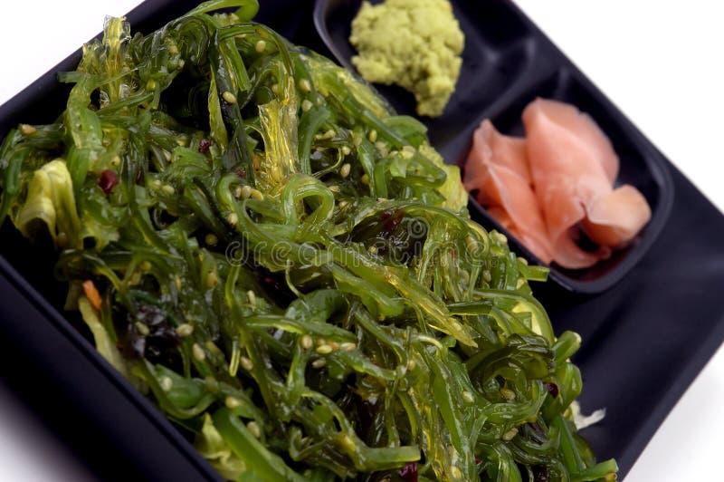 Voedsel - de Salade van het Zeewier stock afbeeldingen