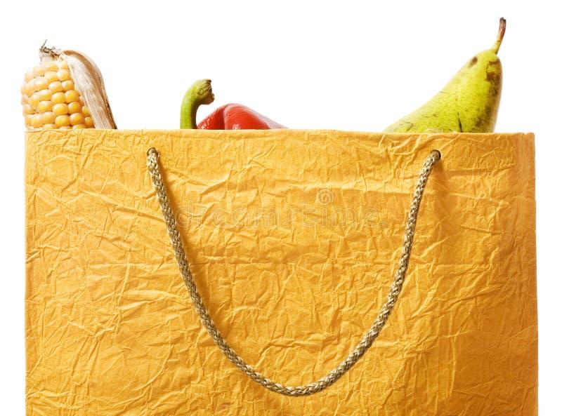 Voedsel in de zak stock fotografie