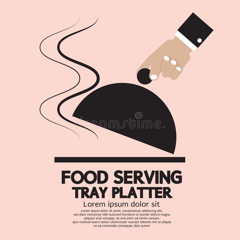 Voedsel die Tray Platter dienen. vector illustratie