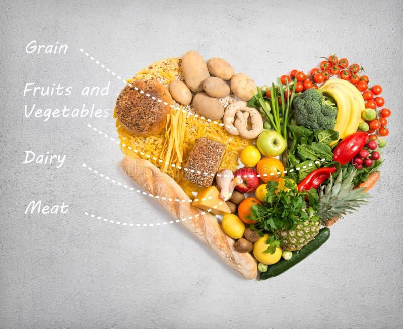 Voedsel voor hart royalty-vrije stock afbeeldingen
