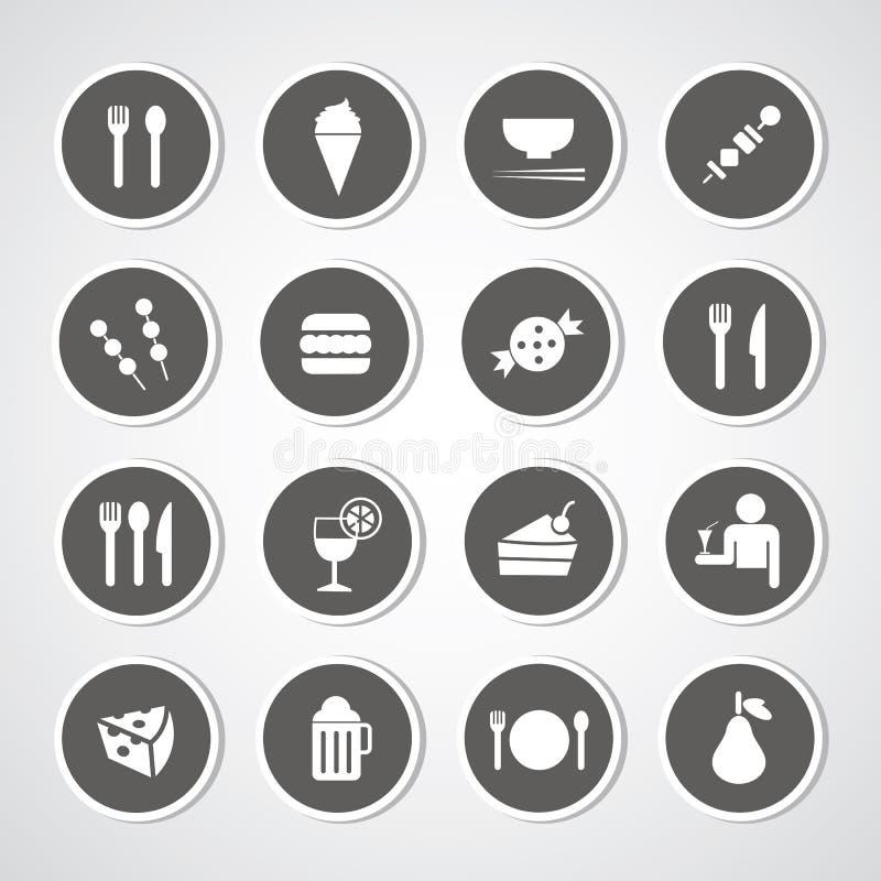 Voedsel en drankpictogram stock illustratie