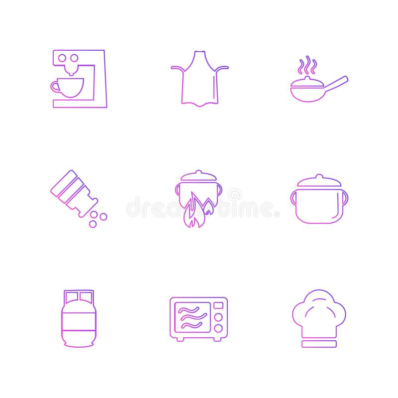 voedsel, gezonde gezondheid, maaltijd, dranken, eps pictogrammen geplaatst vector stock illustratie