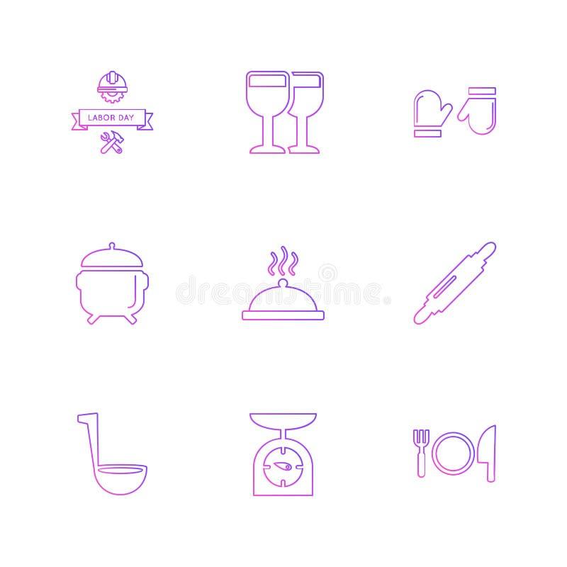 voedsel, gezonde gezondheid, maaltijd, dranken, eps pictogrammen geplaatst vector royalty-vrije illustratie