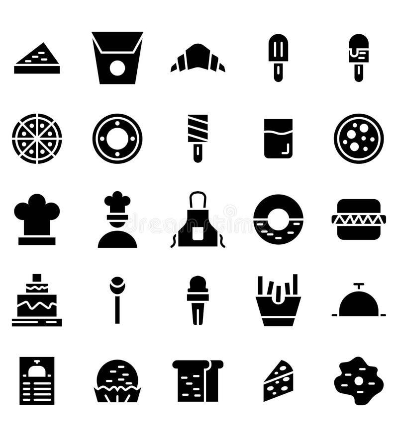 Voedsel glyph vectorpictogram of illustratie o royalty-vrije illustratie