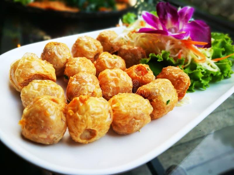 Voedsel in het Broodjesshell van Thailand krab stock foto