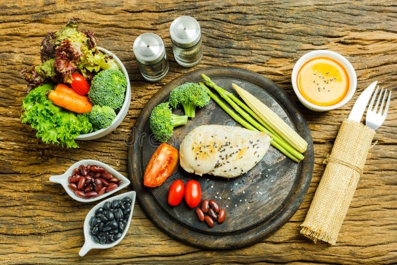 Voedsel Het Voedselachtergrond van het voedselontbijt voedselgezondheid Het voedsel eet FO stock afbeelding