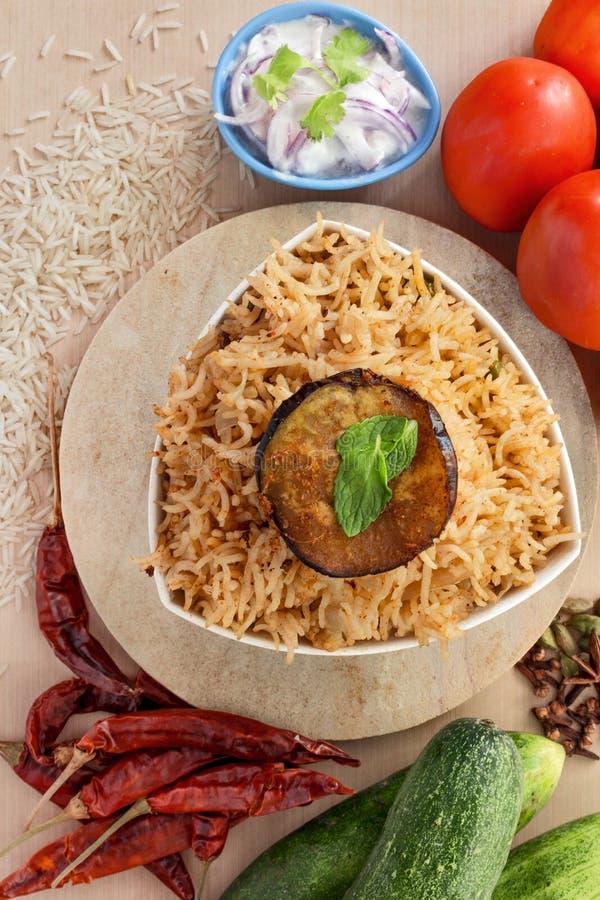 Voedsel Indische Pulao royalty-vrije stock afbeeldingen