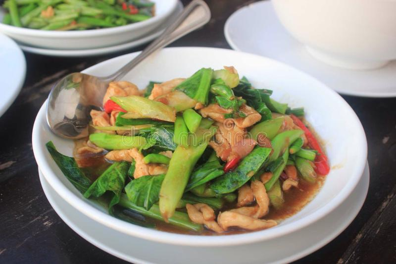 Voedsel in Koh Samui stock afbeelding