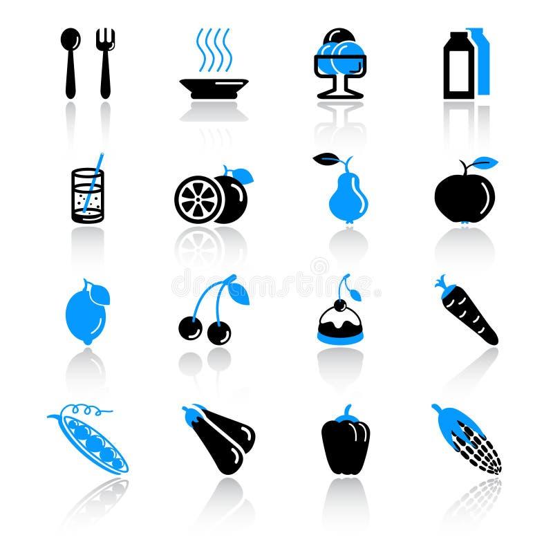 voedsel pictogrammen stock illustratie