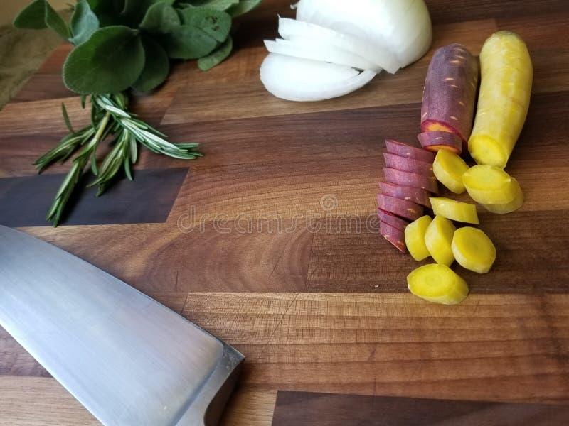 Voedsel prep raad stock foto's