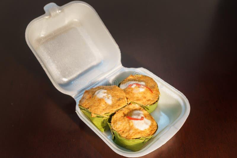 Voedsel in schuimplasticdoos royalty-vrije stock foto's