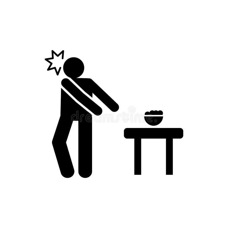 Voedsel, slecht, geduldig pictogram Element van het pictogram van leverkanker Grafisch het ontwerppictogram van de premiekwalitei stock illustratie