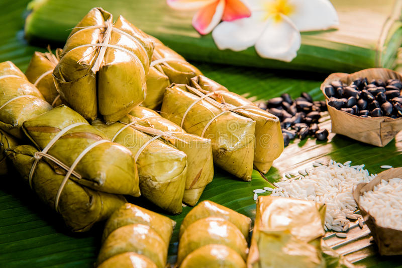 Voedsel Thais dessert stock foto's