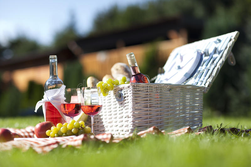 Voedsel in tuin royalty-vrije stock afbeelding